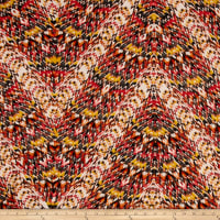 Rayon Challis Abstract Aztec Arrows Multi