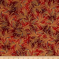 Kaufman Valley of the Kings Metallic Branches Spice