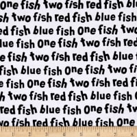 Dr. Seuss One Fish Two Fish Words White