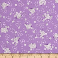 Kaufman Birds of Liberty Flower Spray Lavender
