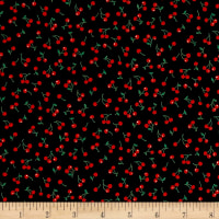 Kaufman Sevenberry Petite Classics Cherries Black