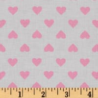 Kaurman Sevenberry Classiques Med Hearts Baby Pink