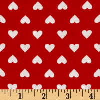 Kaufman Sevenberry Classiques Med Hearts Red