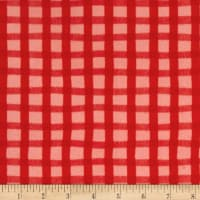 Animal ABC's Flannel Gingham Red