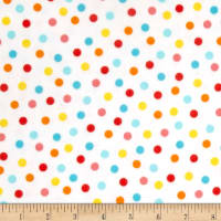 Animal ABC's Flannel Dots White