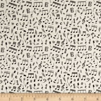 Type Band Musical Notes Cream
