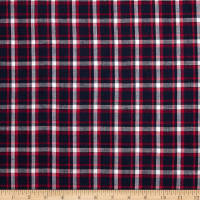 Hudson Bay Madras Plaid Navy/Pink/White