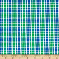 Seersucker Small Plaid Blue/Green/White