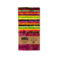 "Timeless Treasures Tonga Batik  2.5"" Strip Packs Neon"