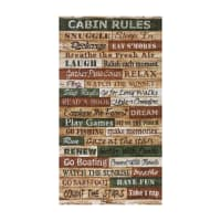 "Timeless Treasures Cabin Rules 24'"" Panel Multi"