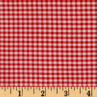 "Polyester 1/8"" Gingham Shirting Red"