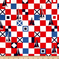 Michael Miller Yacht Club Mariner Flags Red