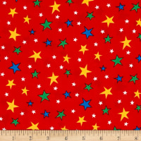 Michael Miller Bot Boy Atomic Stars Red