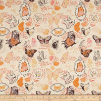Michael Miller Strawberry Moon Butterfly Sketchbook Orange