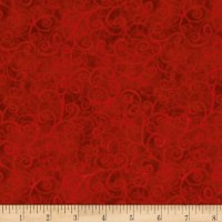 Timeless Treasures Breeze Scroll Blender Red