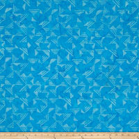 Timeless Treasures Tonga Batik Jelly Bean Triangles Surf