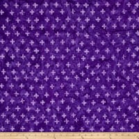 Timeless Treasures Tonga Batik Jelly Bean Plus Sign Purple