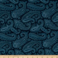 "108"" Wide Back Paisley Blue"