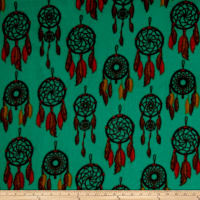 Winter Fleece Dreamcatcher Turquoise