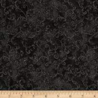 "Essentials 108"" Wide Back Flannel Filigree Black"