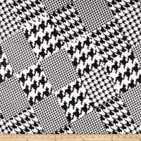 Telio Houndstooth Double Knit White