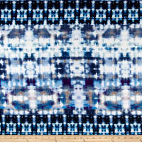 Telio Dakota Jersey Knit Spray Paint Print Blue