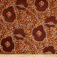 Chiffon Chainlinked Orange Stones