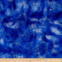 Shannon Luxury Faux Fur Candy Shag Royal Blue