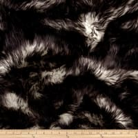 Shannon Luxury Faux Fur Candy Shag Black