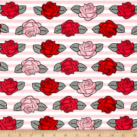 Punk Rock Stripe and Roses