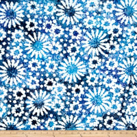 Indian Batik Cascades Daisy Blue