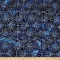 Indian Batik Moody Blues Swirl Blue