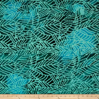 Indian Batik Mirage Abstract Leaf Green