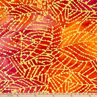 Indian Batik Mirage Abstract Leaf Orange