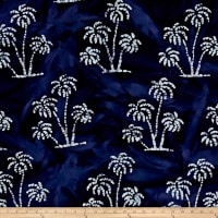 Indian Batik Ocean Grove Palm Trees Navy/White