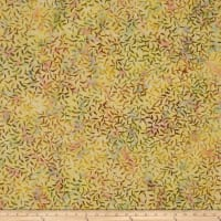Batik Central Java Leaf Vine Peach/Yellow