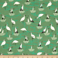 Cotton + Steel From Porto With Love Stork Net Green