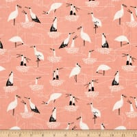 Cotton + Steel From Porto With Love Stork Net Pink
