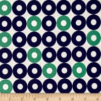 Cotton + Steel Rotary Club Ring Rings Navy-Green