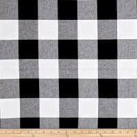 "Cotton + Steel Checkers Yarn Dyed Woven 2 1/2"" Black"