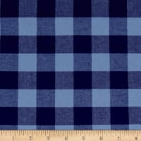 "Cotton + Steel Checkers Yarn Dyed Gingham Woven 1"" Navy"