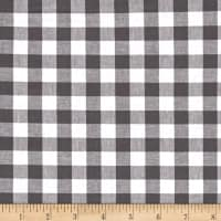 "Cotton + Steel Checkers Yarn Dyed Gingham Woven 1/2"" Chalkboard"