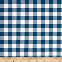 "Cotton + Steel Checkers Yarn Dyed Gingham Woven 1/2"" Teal"