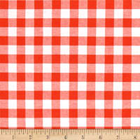 """Cotton + Steel Checkers Yarn Dyed Woven 1/2"""" Coral"""