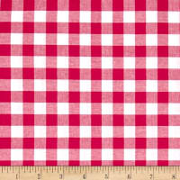 "Cotton + Steel Checkers Yarn Dyed Gingham Woven 1/2"" Berry"