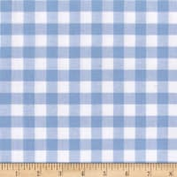 "Cotton + Steel Checkers Yarn Dyed Gingham Woven 1/2"" Sky"