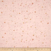 Cotton + Steel Rotary Club Double Gauze Space Thistles Pink