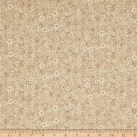 Mia Country Flock Digital Print Floral Texture Beige