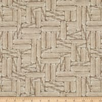 Mia Country Flock Digital Print Wood Block Cream