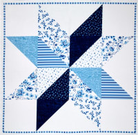 "Sweet Tea Digital 43.5"" Panel Barn Star Delft"